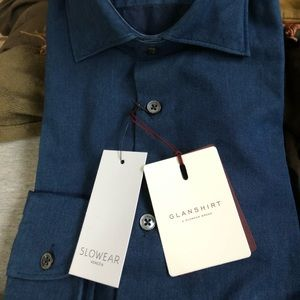 Glanshirt Made in Italy by Slowear Navy Blue Shirt